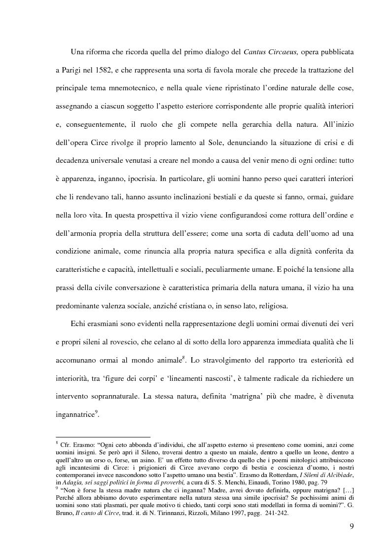 Anteprima della tesi: Ontologia e antropologia in Giordano Bruno, Pagina 5