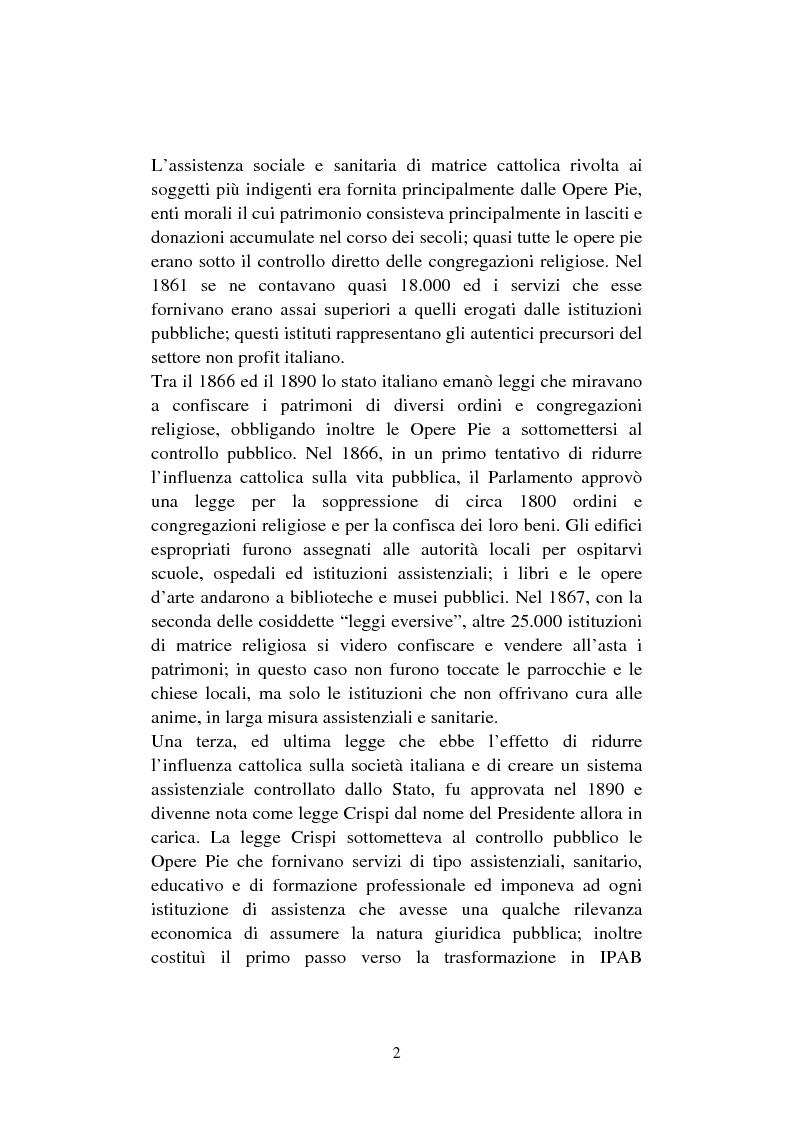 Anteprima della tesi: Le organizzazioni non profit. Il caso polisportiva Paolo Poggi, Pagina 4