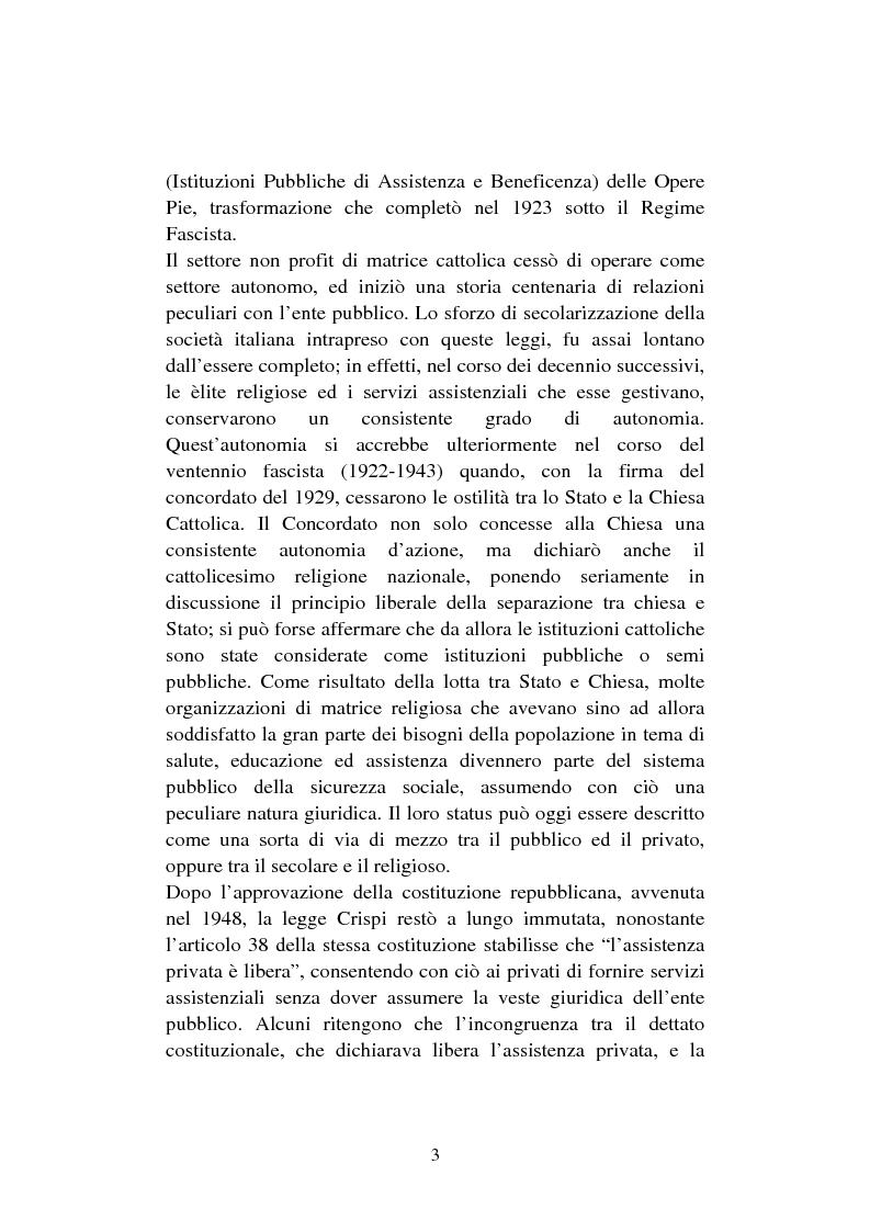 Anteprima della tesi: Le organizzazioni non profit. Il caso polisportiva Paolo Poggi, Pagina 5