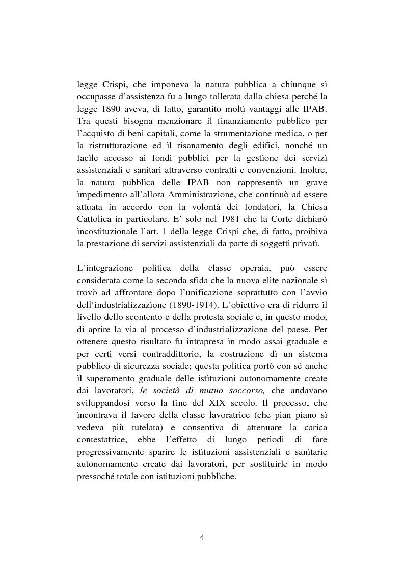 Anteprima della tesi: Le organizzazioni non profit. Il caso polisportiva Paolo Poggi, Pagina 6