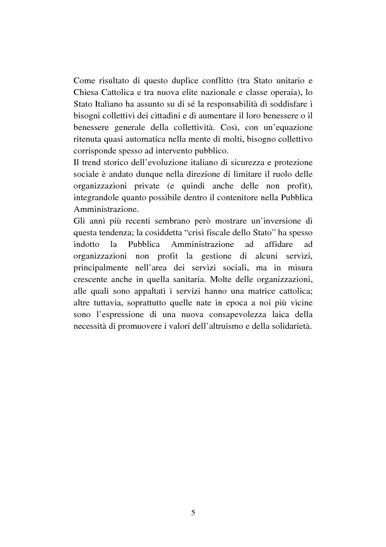 Anteprima della tesi: Le organizzazioni non profit. Il caso polisportiva Paolo Poggi, Pagina 7