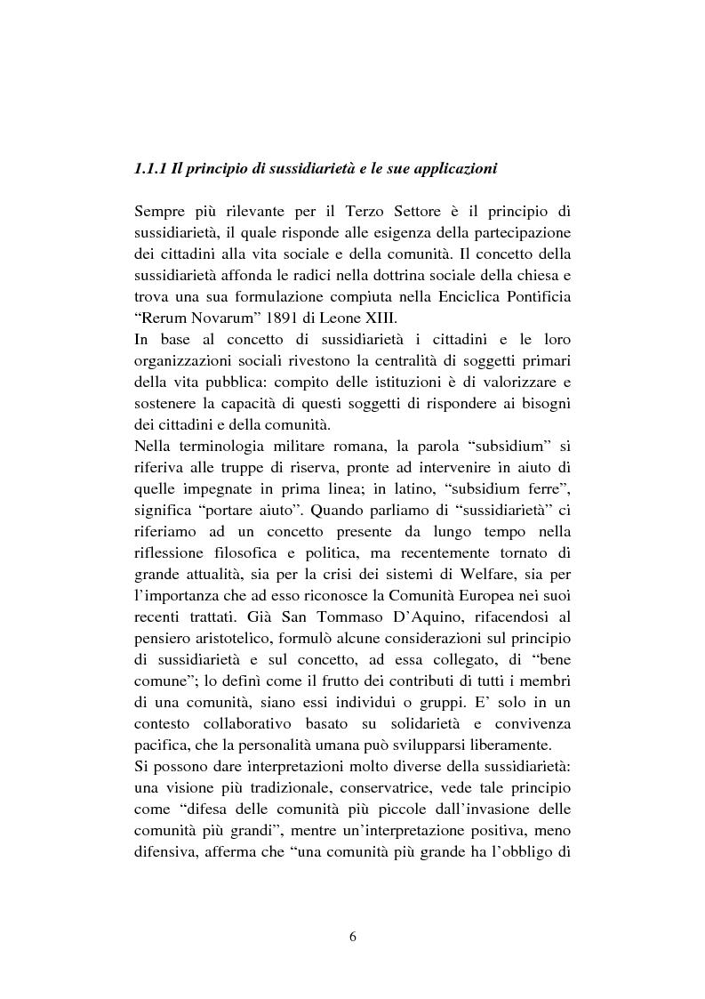 Anteprima della tesi: Le organizzazioni non profit. Il caso polisportiva Paolo Poggi, Pagina 8