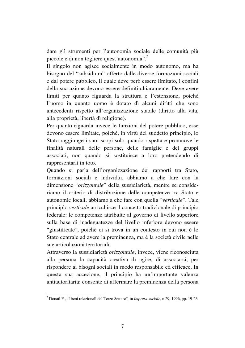 Anteprima della tesi: Le organizzazioni non profit. Il caso polisportiva Paolo Poggi, Pagina 9