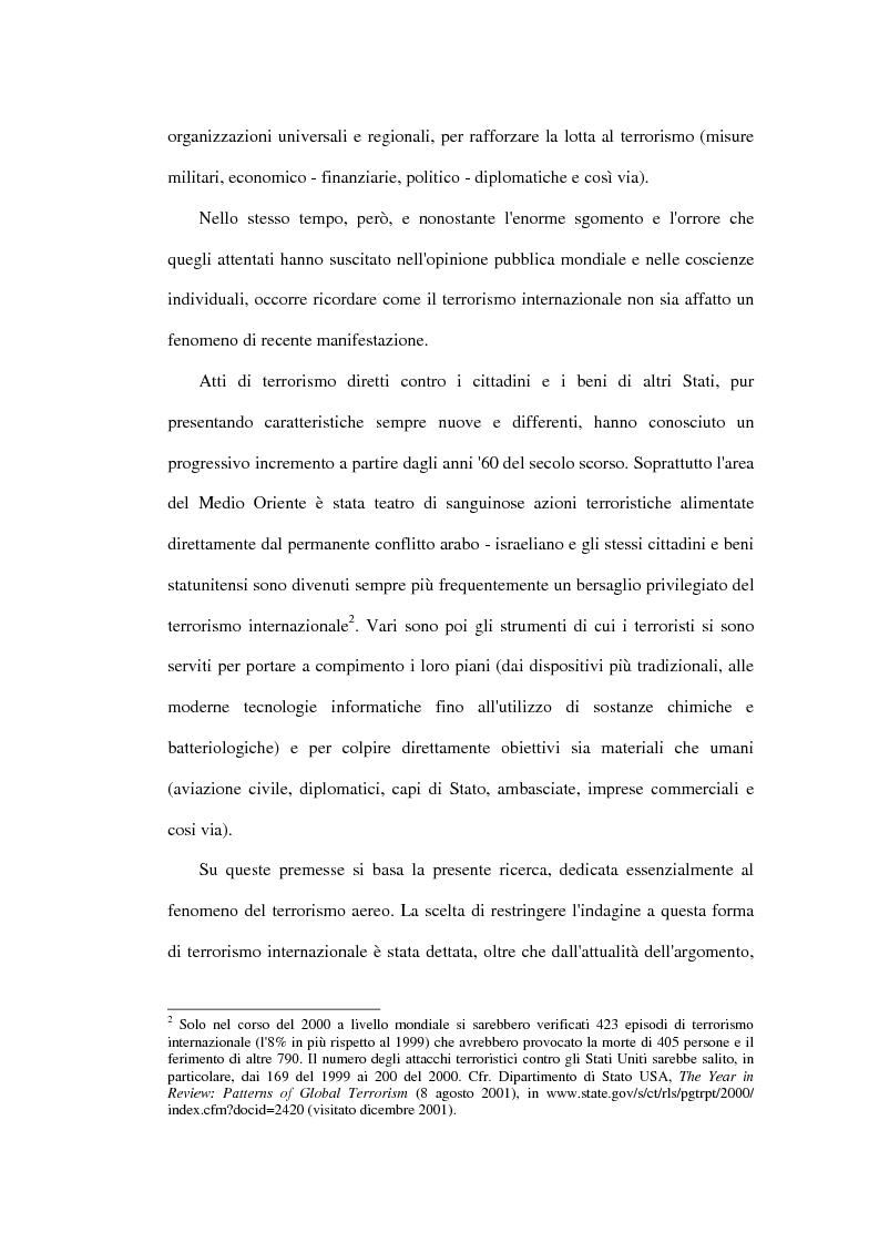 Anteprima della tesi: Il terrorismo aereo ed il diritto internazionale attuale, Pagina 2