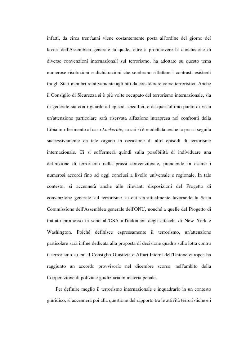 Anteprima della tesi: Il terrorismo aereo ed il diritto internazionale attuale, Pagina 5