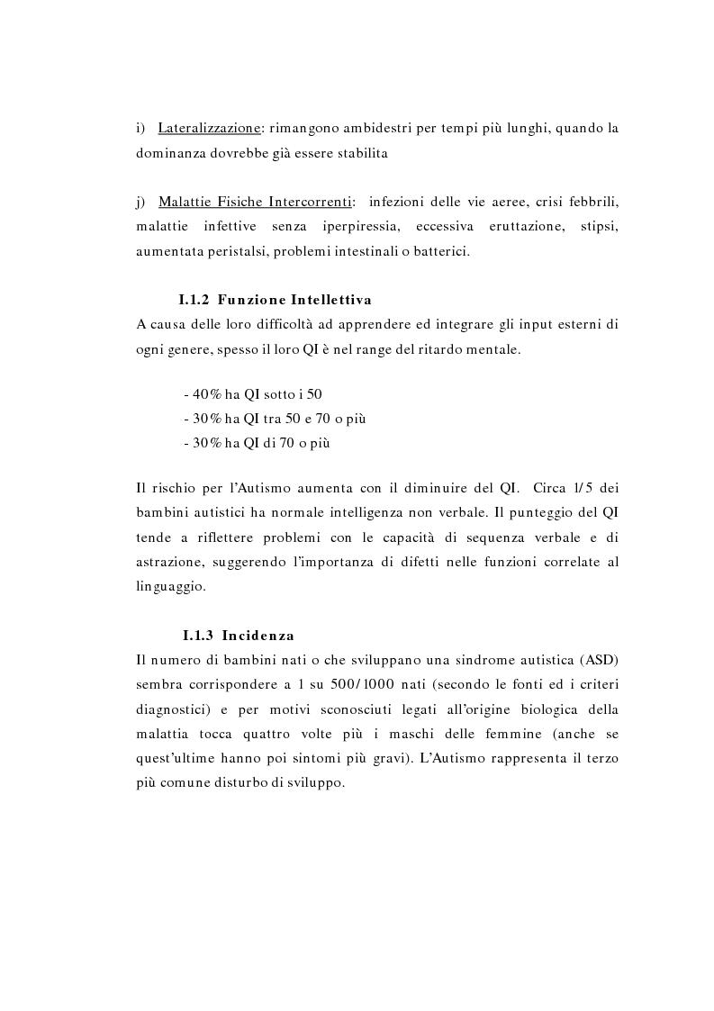 Anteprima della tesi: Il ruolo della logopedia nella riabilitazione del bambino autistico, Pagina 10
