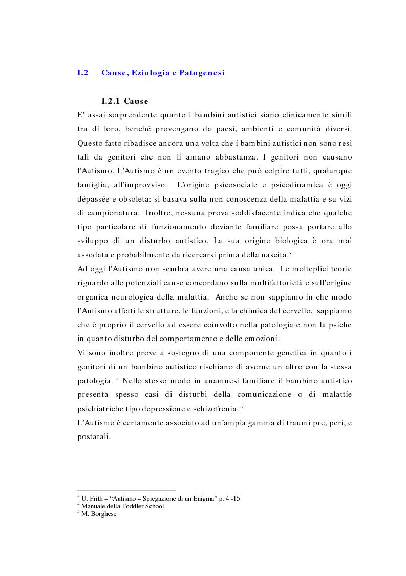 Anteprima della tesi: Il ruolo della logopedia nella riabilitazione del bambino autistico, Pagina 11