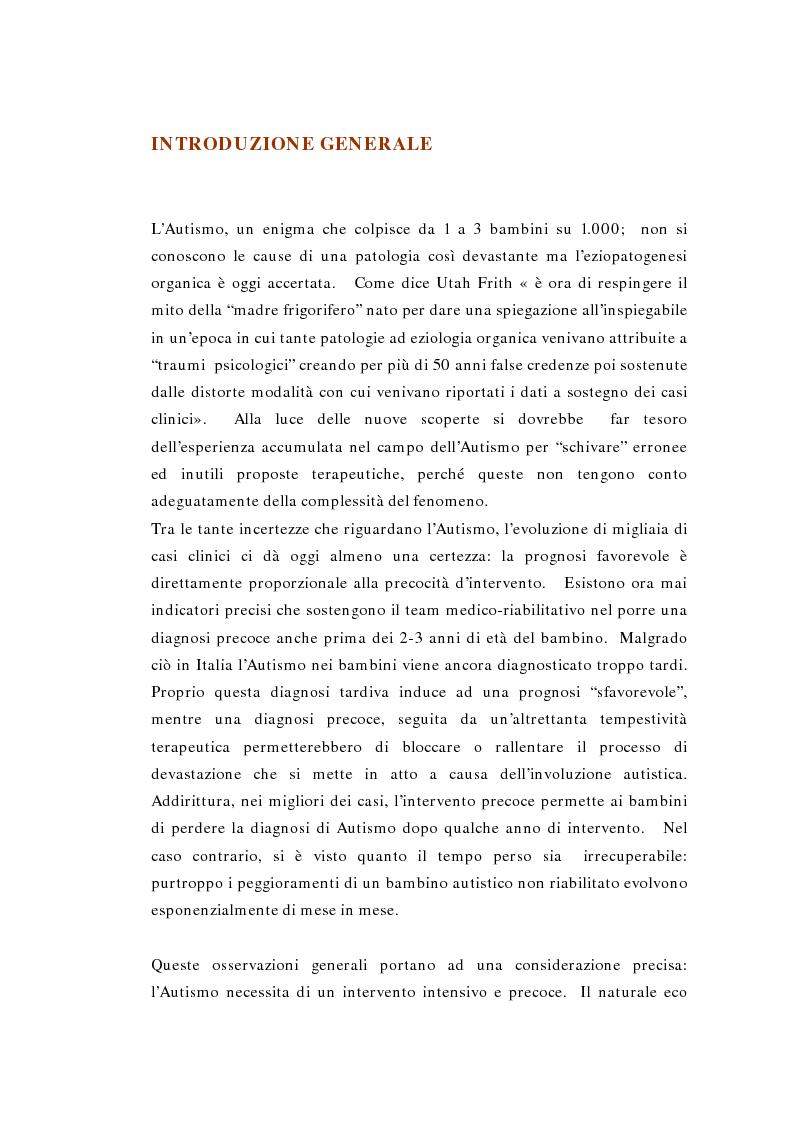 Anteprima della tesi: Il ruolo della logopedia nella riabilitazione del bambino autistico, Pagina 3