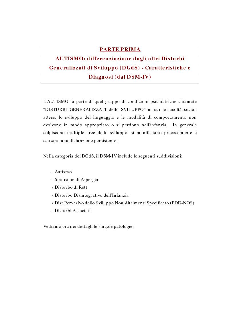 Anteprima della tesi: Il ruolo della logopedia nella riabilitazione del bambino autistico, Pagina 5