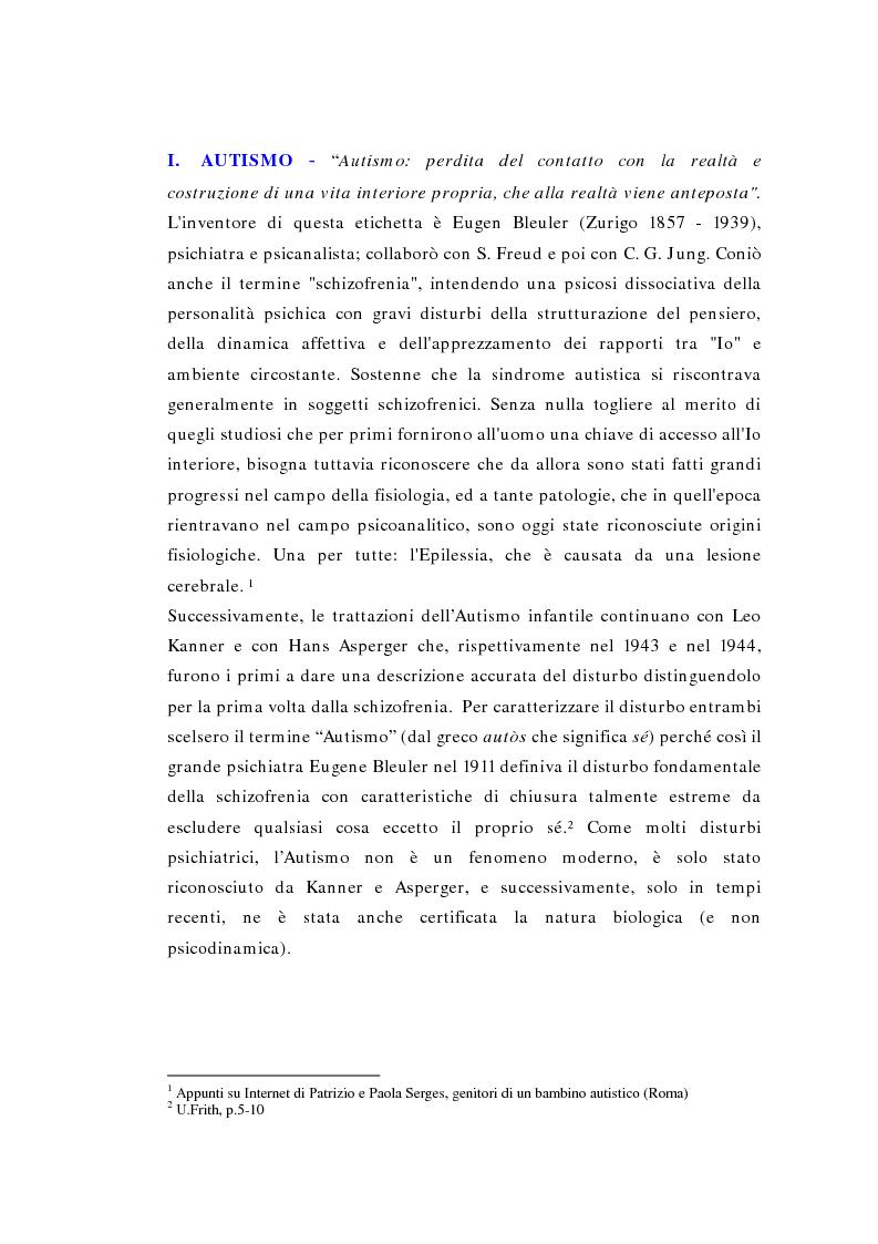 Anteprima della tesi: Il ruolo della logopedia nella riabilitazione del bambino autistico, Pagina 6