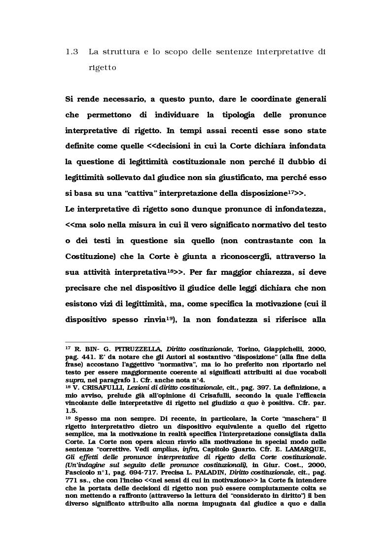 Anteprima della tesi: Le metamorfosi delle sentenze interpretative di rigetto, Pagina 10