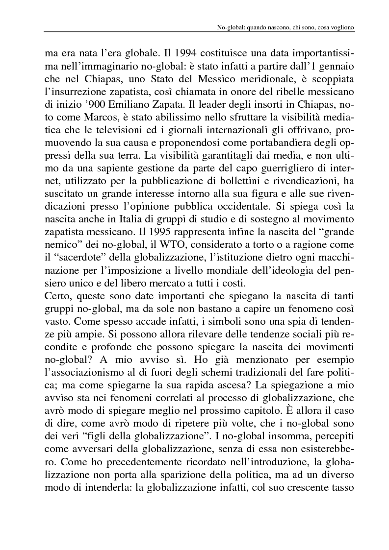 Anteprima della tesi: I movimenti no-global: natura, idee, evoluzione, Pagina 11