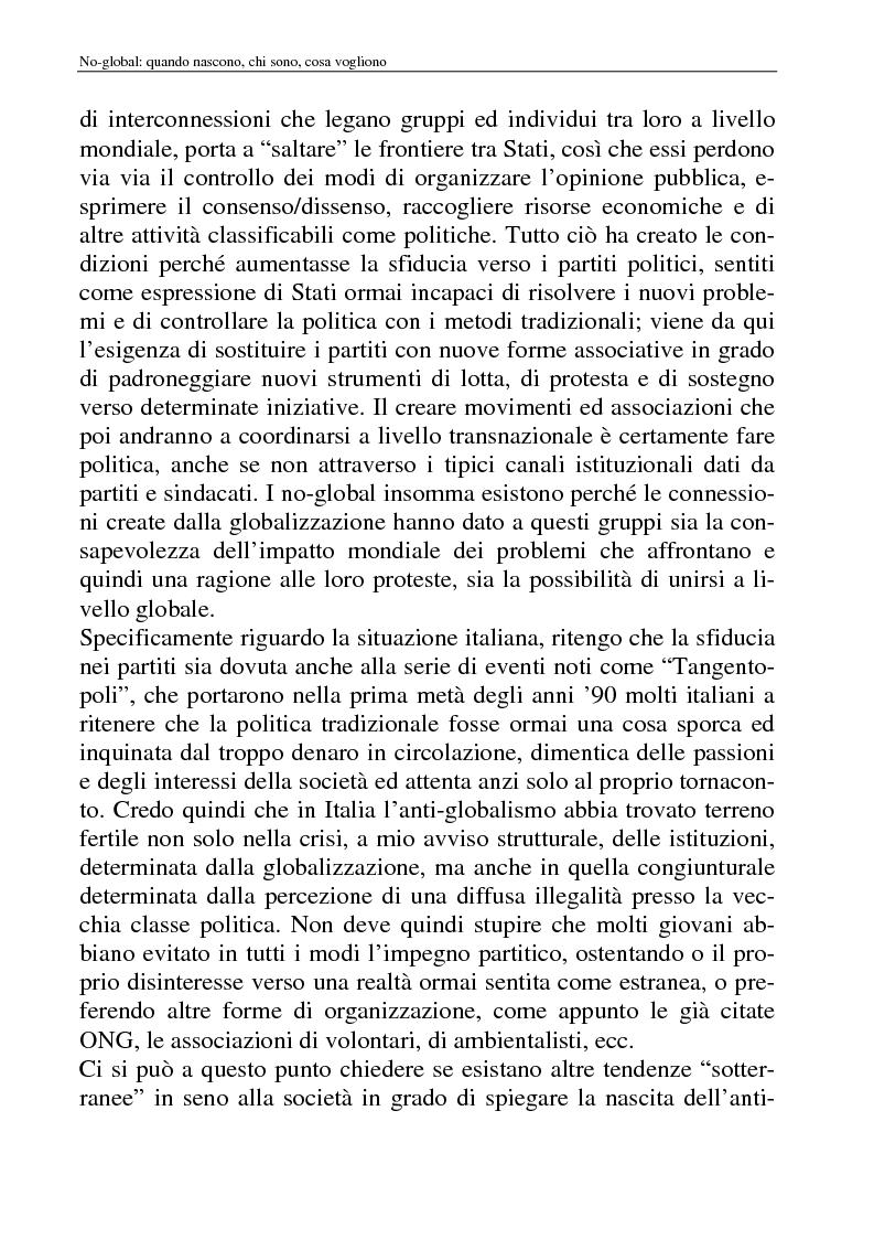Anteprima della tesi: I movimenti no-global: natura, idee, evoluzione, Pagina 12