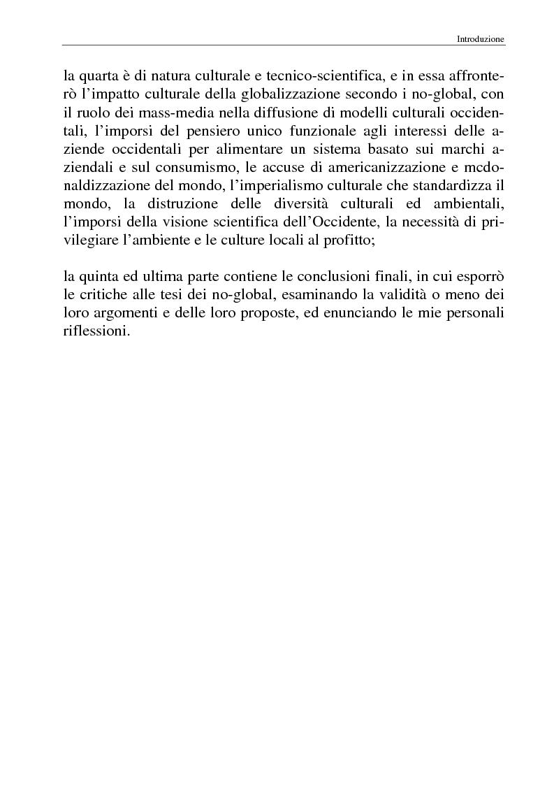 Anteprima della tesi: I movimenti no-global: natura, idee, evoluzione, Pagina 3