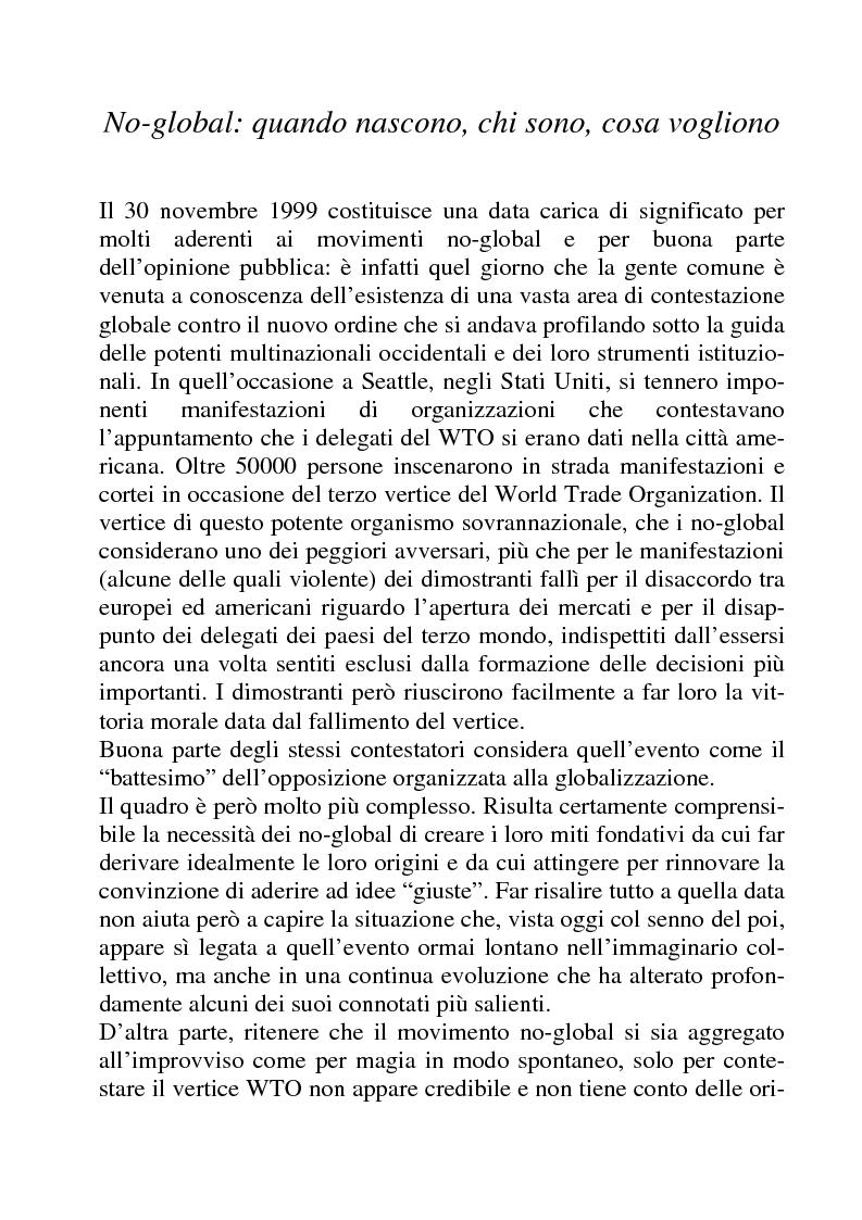 Anteprima della tesi: I movimenti no-global: natura, idee, evoluzione, Pagina 7