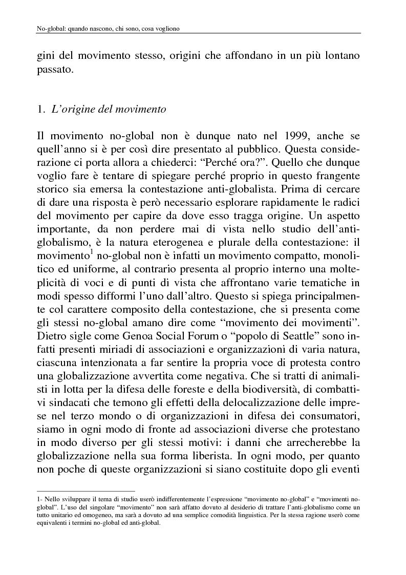 Anteprima della tesi: I movimenti no-global: natura, idee, evoluzione, Pagina 8