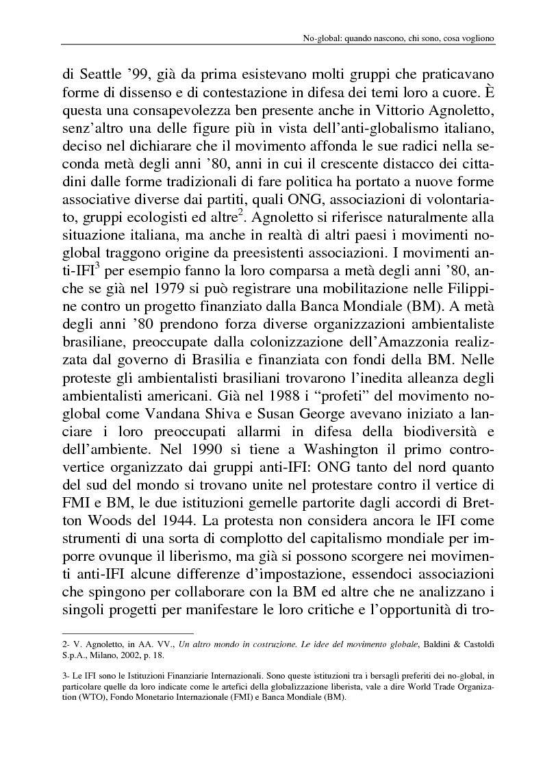 Anteprima della tesi: I movimenti no-global: natura, idee, evoluzione, Pagina 9