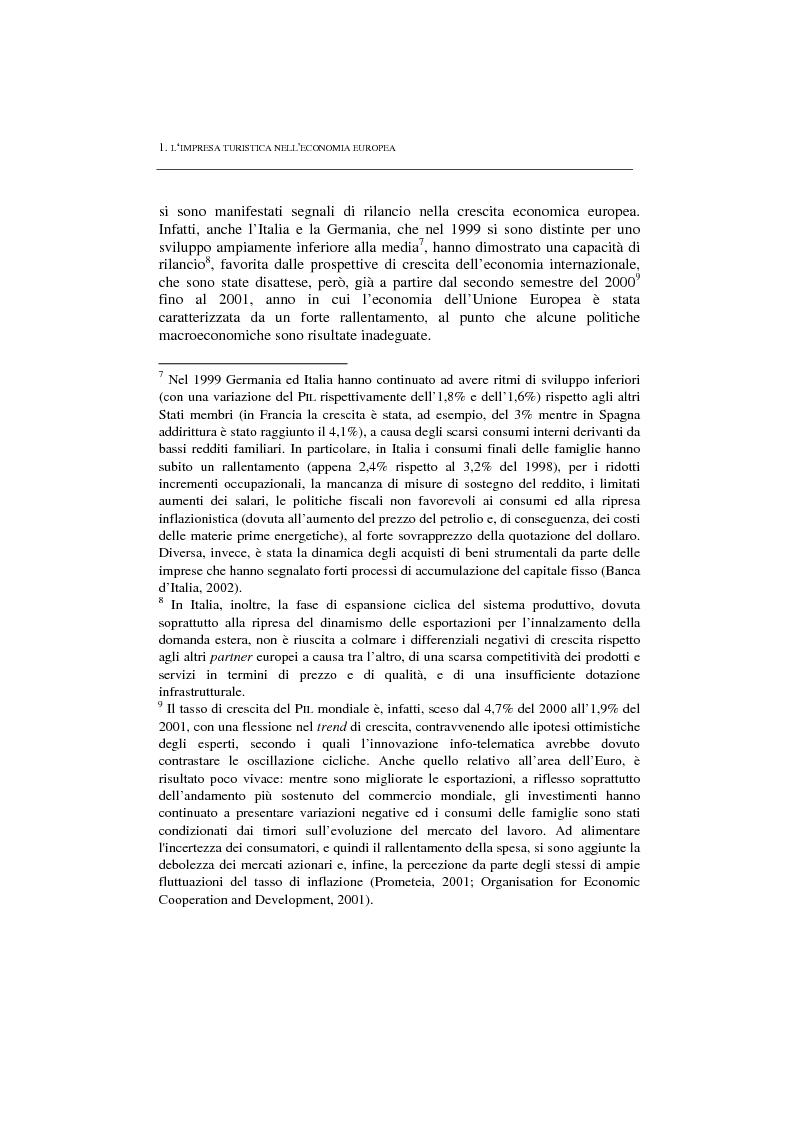 Anteprima della tesi: La politica per l'impresa turistica nell'economia europea tra innovazione tecnologica e nuove professionalità, Pagina 3