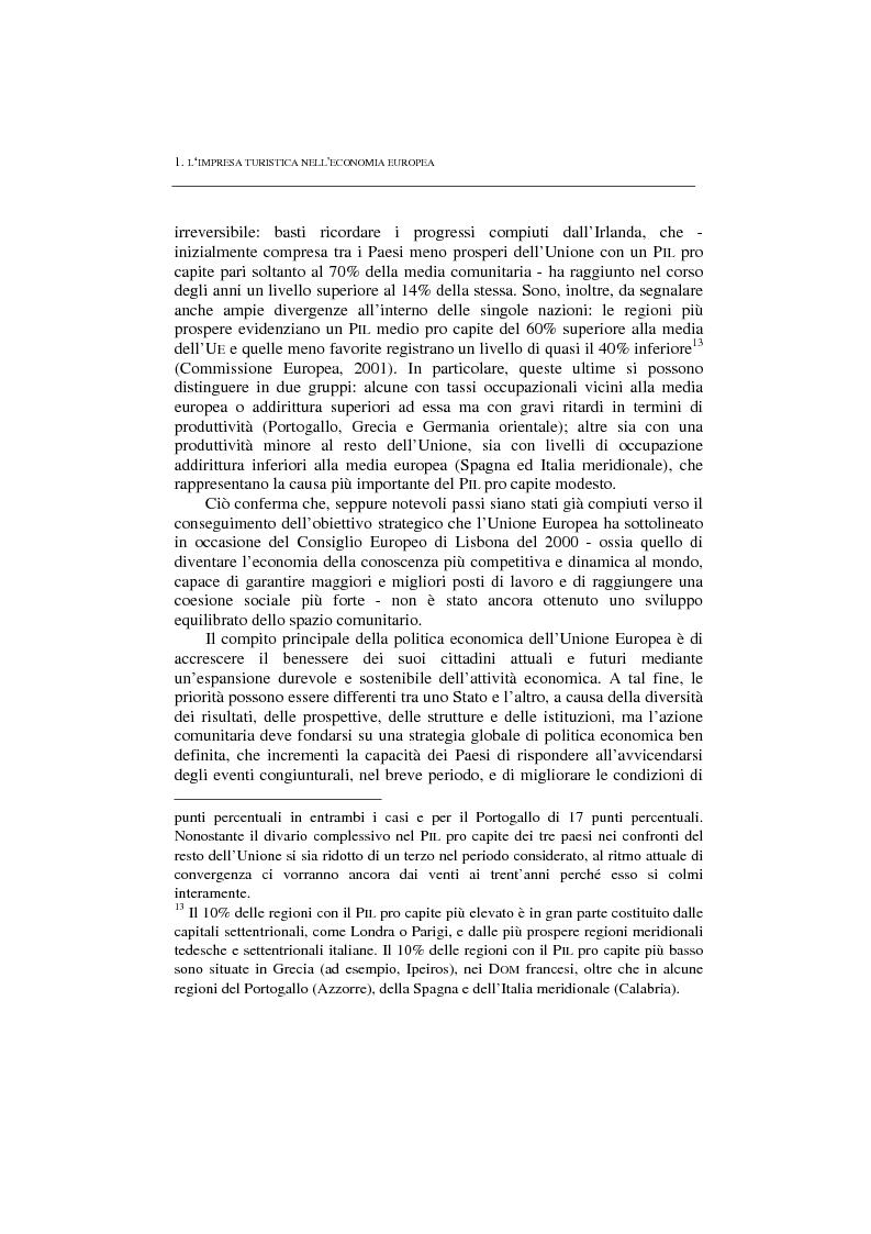 Anteprima della tesi: La politica per l'impresa turistica nell'economia europea tra innovazione tecnologica e nuove professionalità, Pagina 5