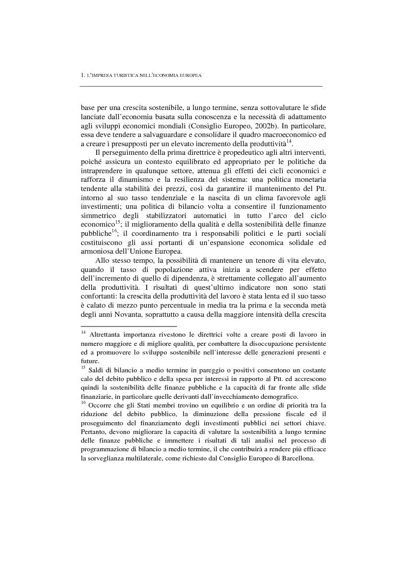 Anteprima della tesi: La politica per l'impresa turistica nell'economia europea tra innovazione tecnologica e nuove professionalità, Pagina 6