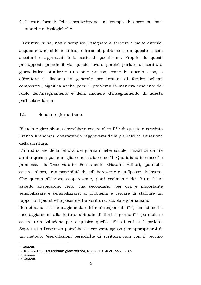 Anteprima della tesi: Il commento giornalistico: uno sguardo alla scrittura di Beppe Severgnini, Pagina 6