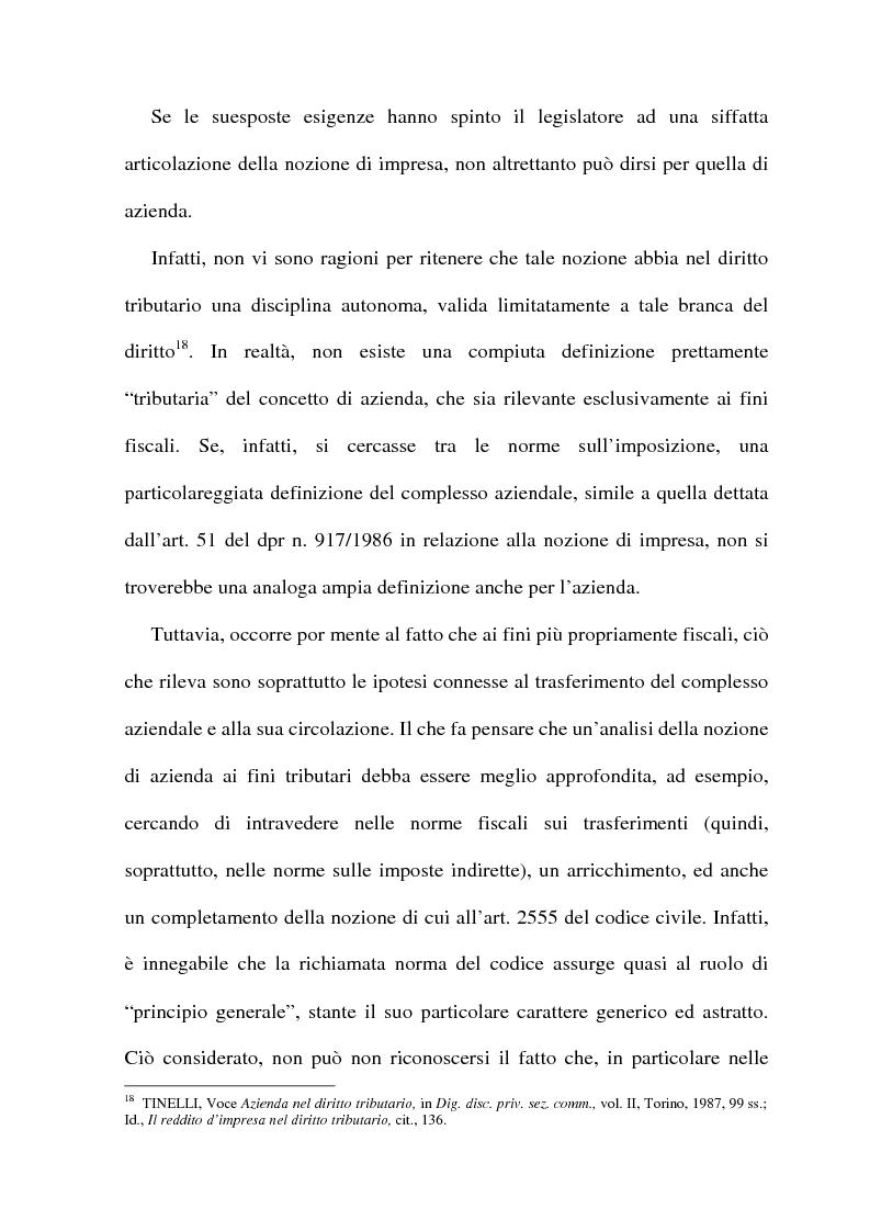 Anteprima della tesi: La cessione di azienda nel diritto tributario, Pagina 10