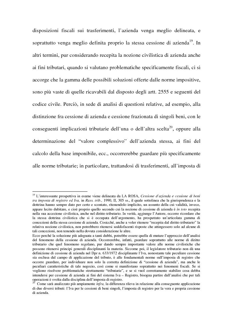 Anteprima della tesi: La cessione di azienda nel diritto tributario, Pagina 11