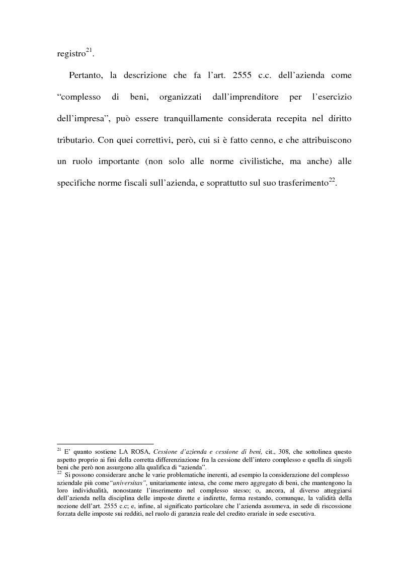 Anteprima della tesi: La cessione di azienda nel diritto tributario, Pagina 12