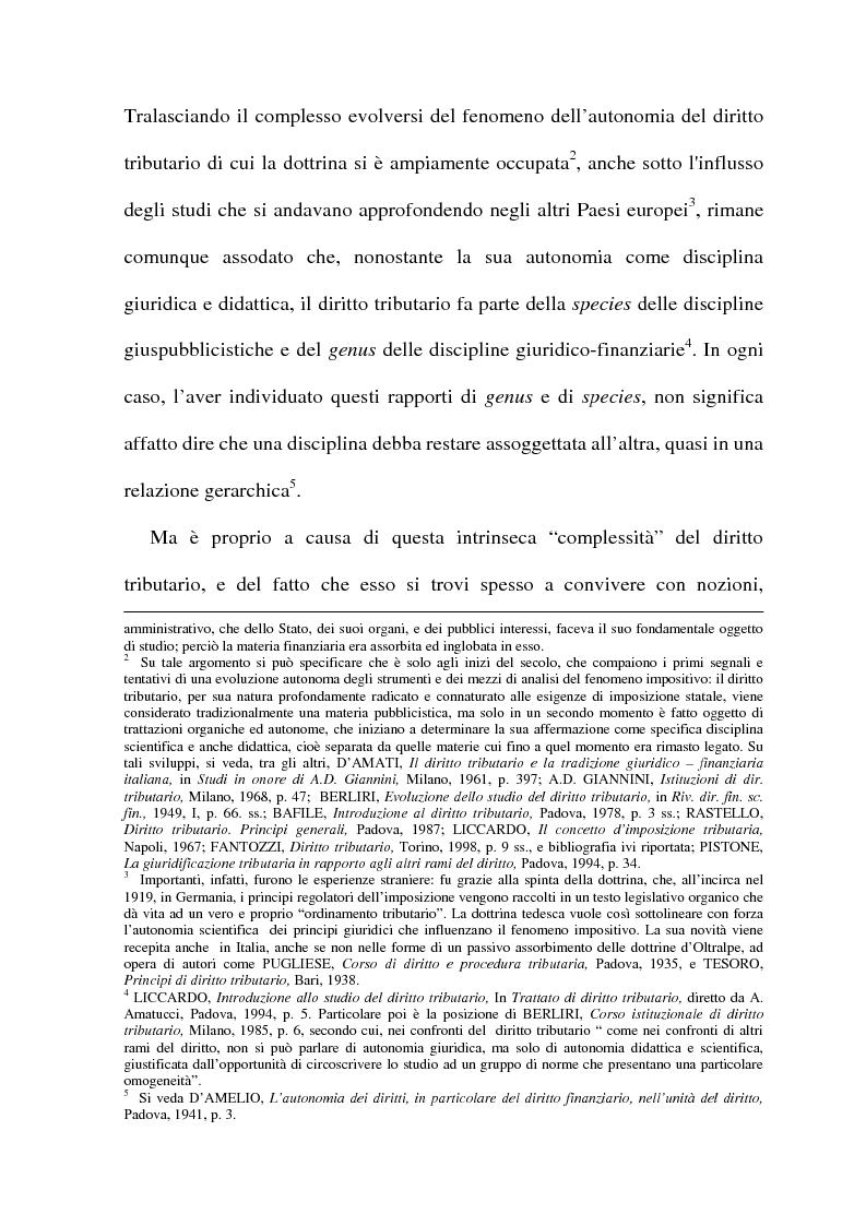 Anteprima della tesi: La cessione di azienda nel diritto tributario, Pagina 3