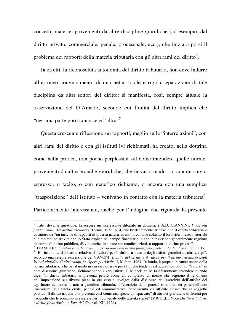 Anteprima della tesi: La cessione di azienda nel diritto tributario, Pagina 4