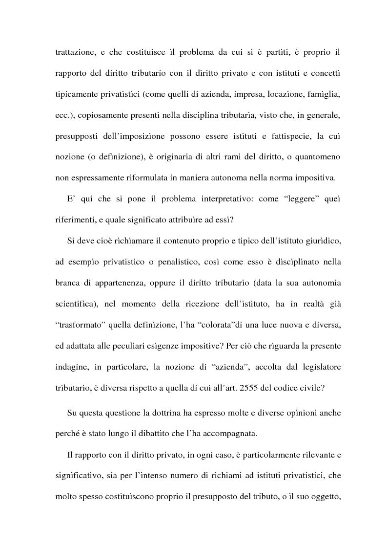 Anteprima della tesi: La cessione di azienda nel diritto tributario, Pagina 5