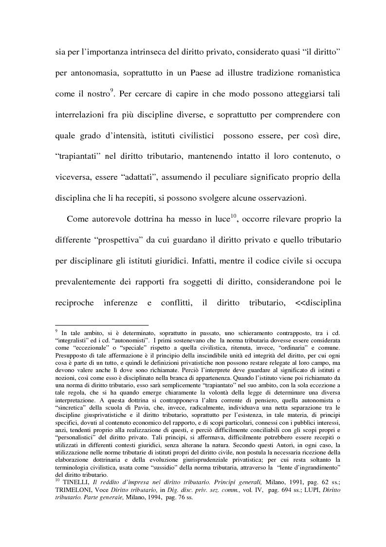 Anteprima della tesi: La cessione di azienda nel diritto tributario, Pagina 6