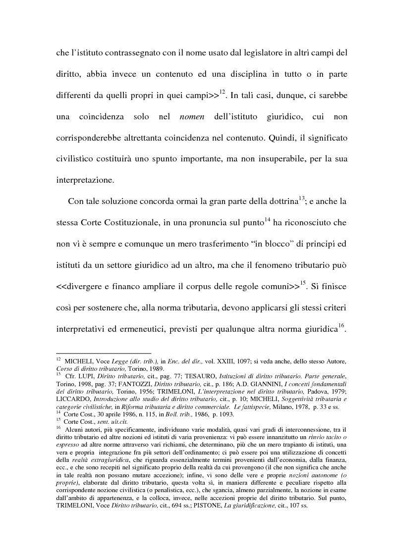 Anteprima della tesi: La cessione di azienda nel diritto tributario, Pagina 8