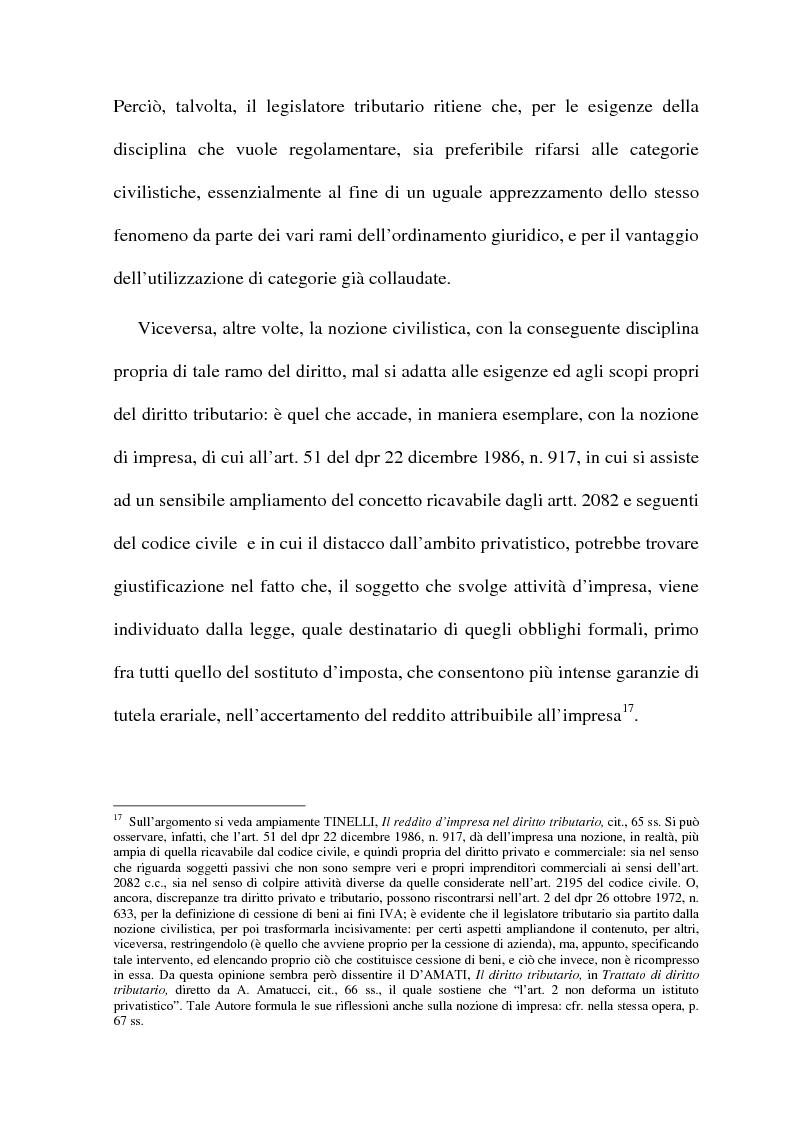 Anteprima della tesi: La cessione di azienda nel diritto tributario, Pagina 9