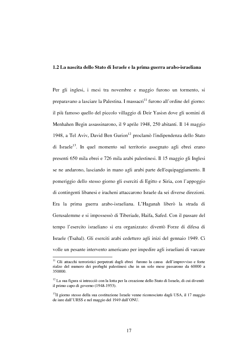 Anteprima della tesi: I recenti sviluppi della crisi israelo-palestinese alla luce del diritto internazionale, Pagina 12