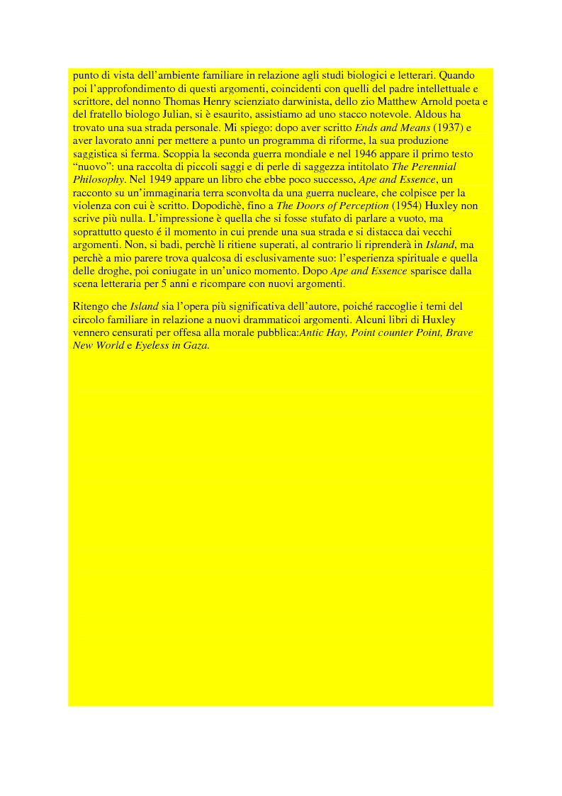 Anteprima della tesi: Il pensiero politico di Aldous Huxley, Pagina 3