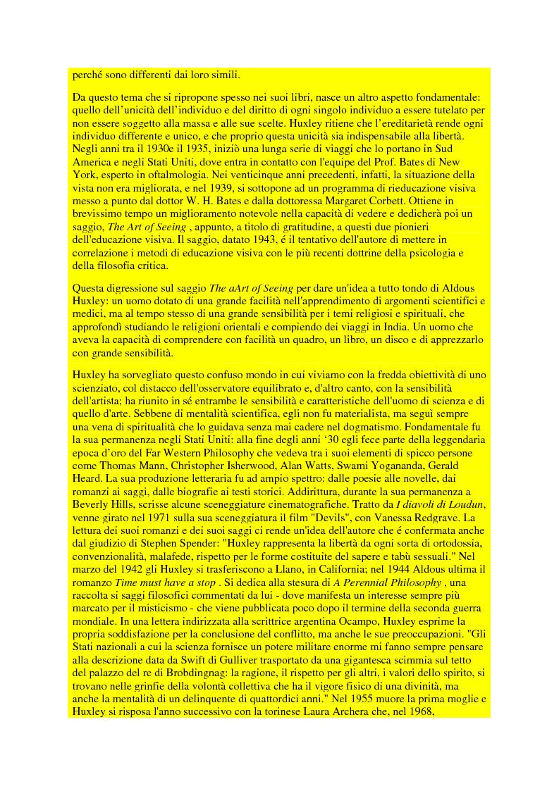 Anteprima della tesi: Il pensiero politico di Aldous Huxley, Pagina 5