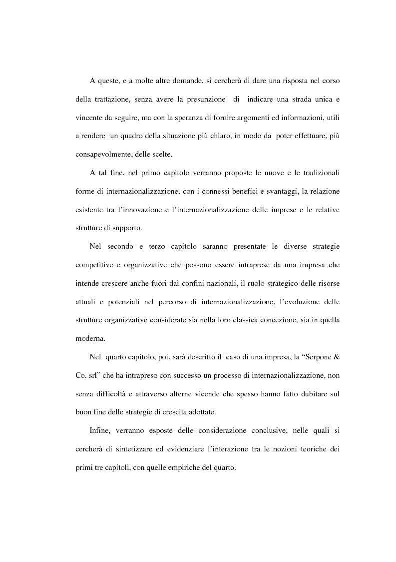 Anteprima della tesi: Dinamiche competitive e processi di internazionalizzazione. Il caso Serpone, Pagina 2