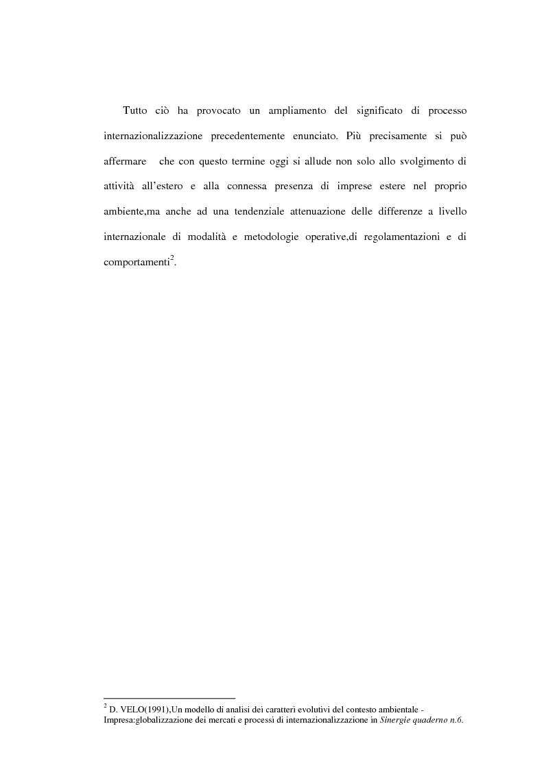 Anteprima della tesi: Dinamiche competitive e processi di internazionalizzazione. Il caso Serpone, Pagina 5