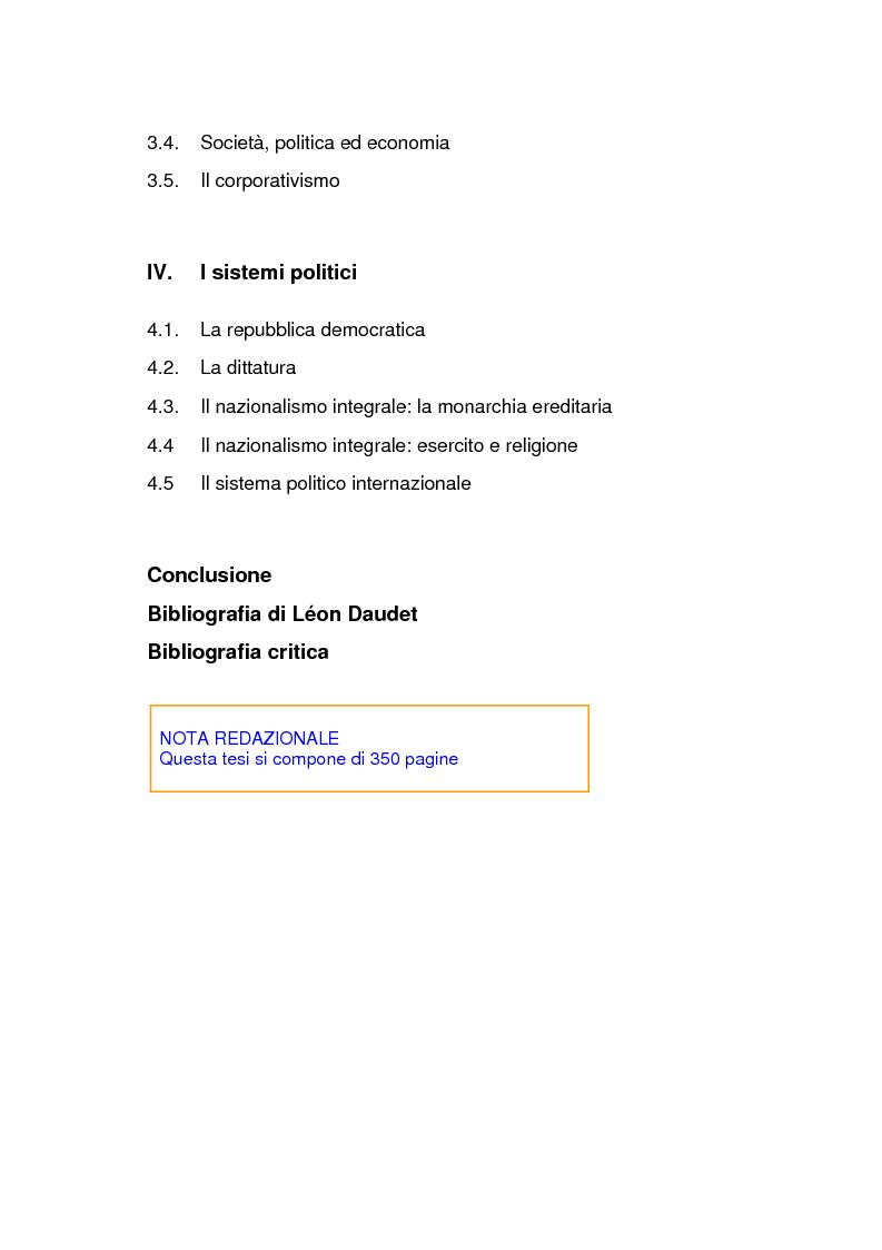 Indice della tesi: Lèon Daudet: nazionalismo integrale e polemica antidemocratica, Pagina 2