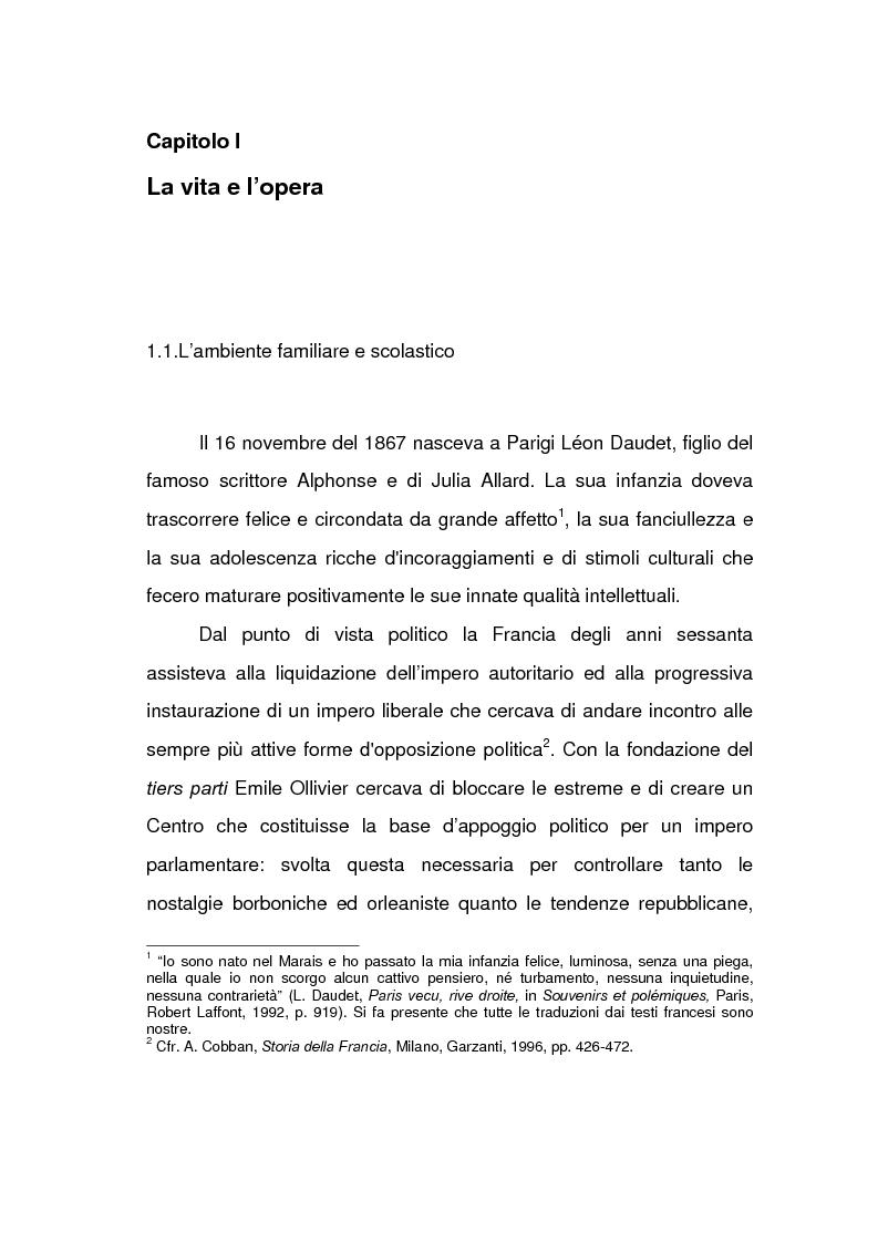 Anteprima della tesi: Lèon Daudet: nazionalismo integrale e polemica antidemocratica, Pagina 1