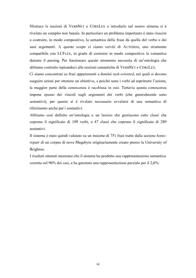 Anteprima della tesi: Un sistema per la rappresentazione lessico-semantica di istruzioni in linguaggio naturale, Pagina 2