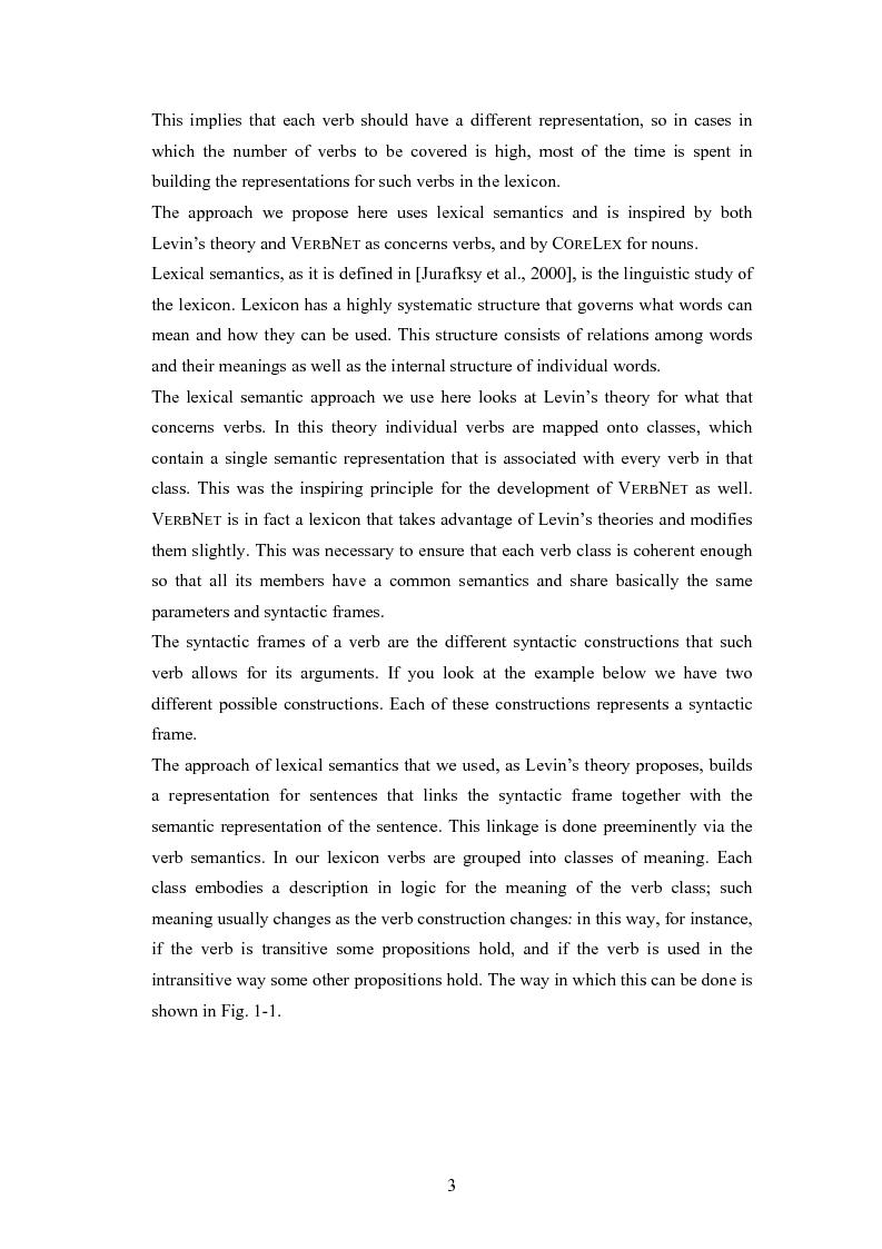 Anteprima della tesi: Un sistema per la rappresentazione lessico-semantica di istruzioni in linguaggio naturale, Pagina 5