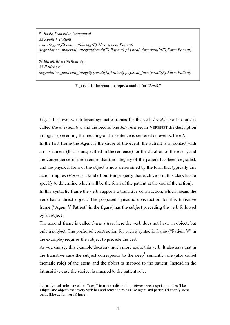 Anteprima della tesi: Un sistema per la rappresentazione lessico-semantica di istruzioni in linguaggio naturale, Pagina 6