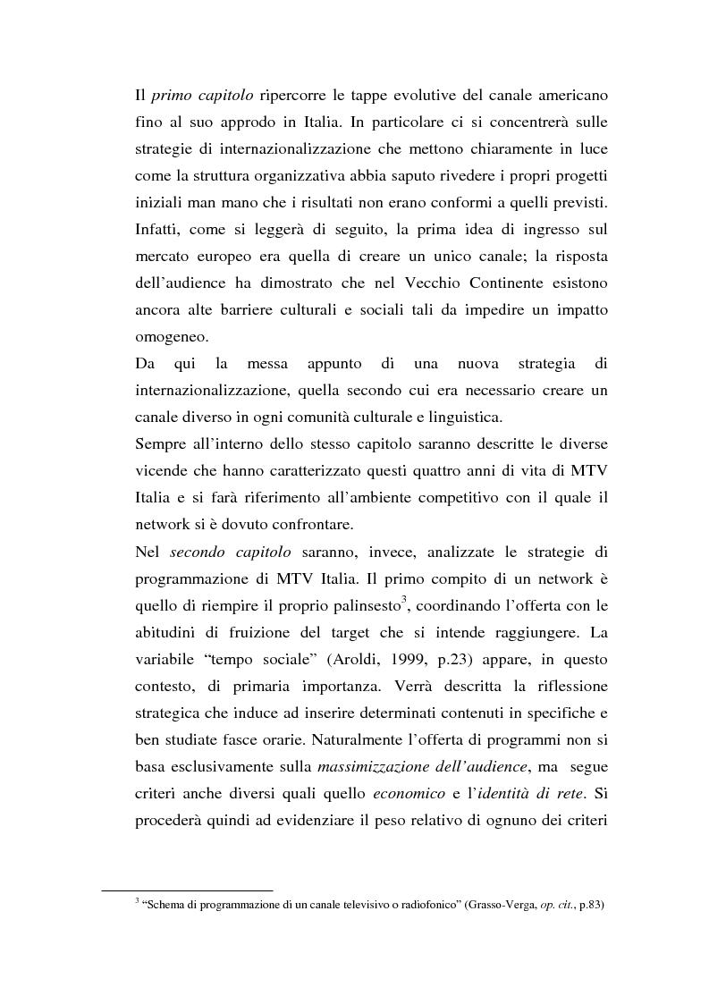 Anteprima della tesi: MTV Italia: strategie di coinvolgimento dei giovani glocali, Pagina 3