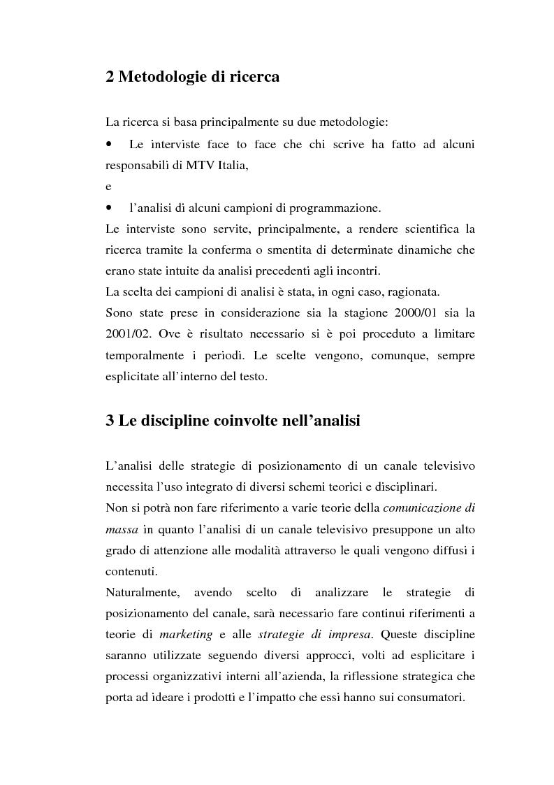 Anteprima della tesi: MTV Italia: strategie di coinvolgimento dei giovani glocali, Pagina 7