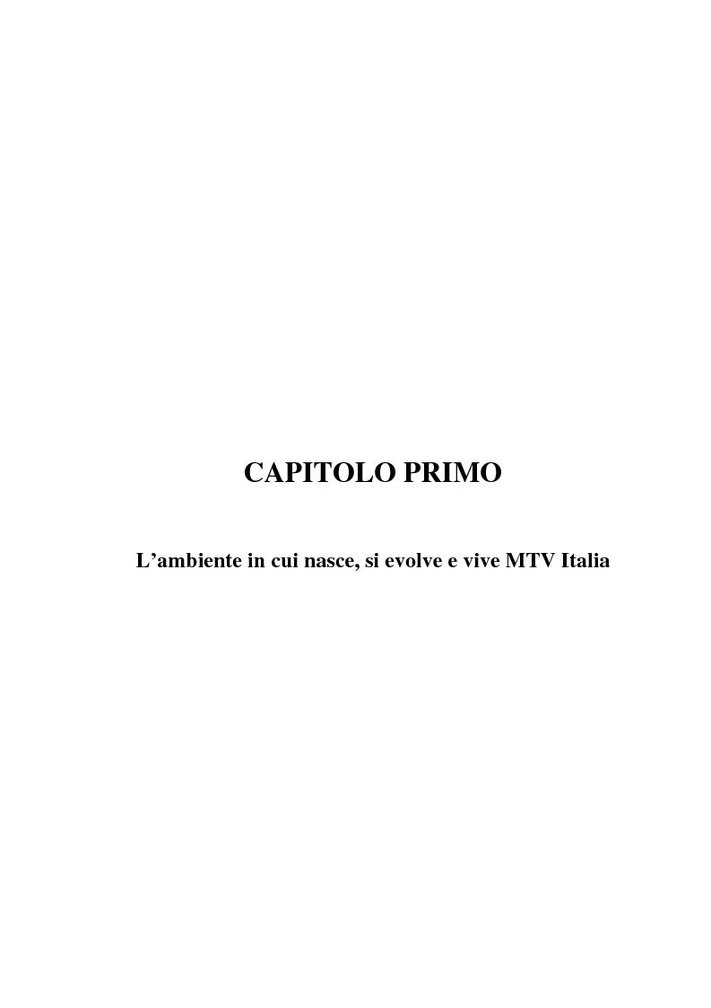 Anteprima della tesi: MTV Italia: strategie di coinvolgimento dei giovani glocali, Pagina 9