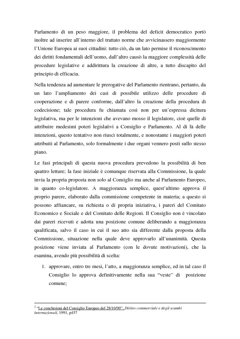 Anteprima della tesi: La procedura di codecisione, Pagina 5