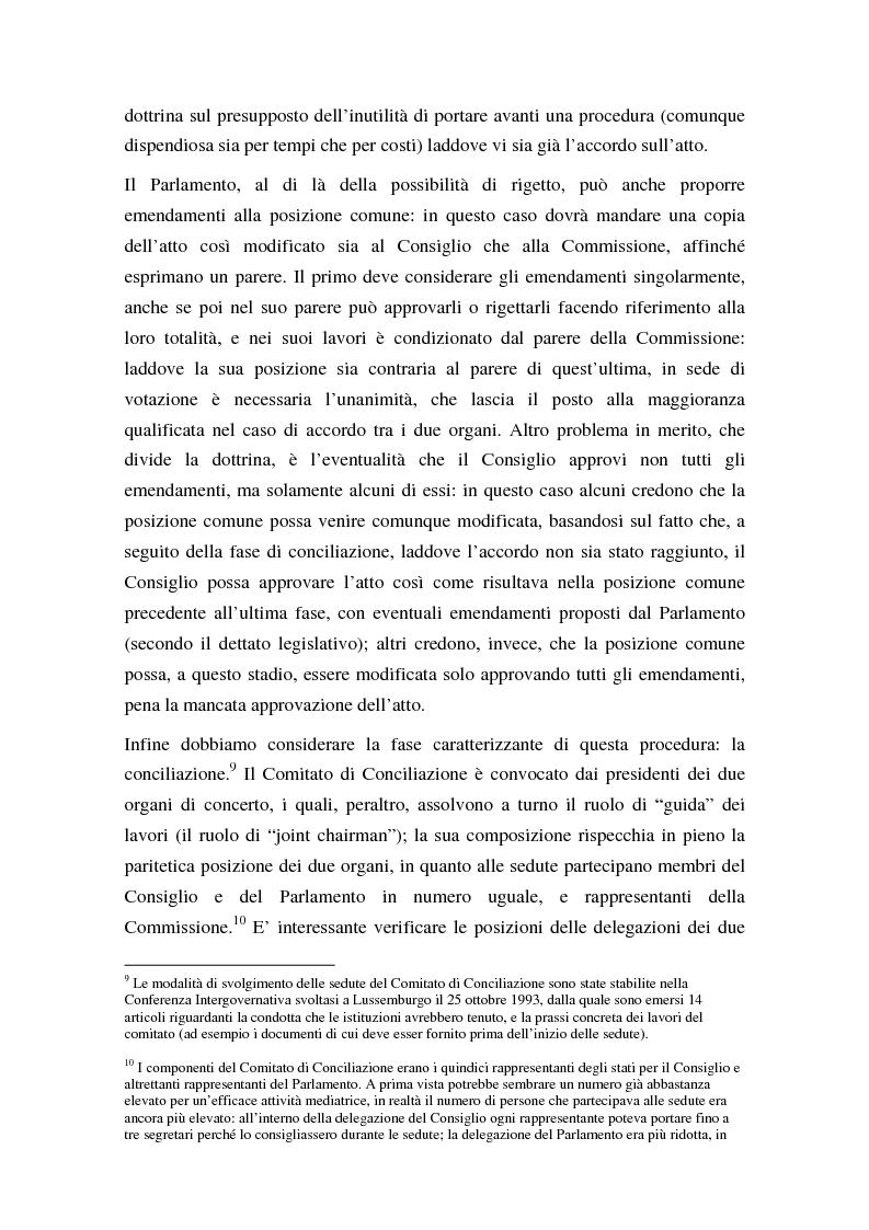 Anteprima della tesi: La procedura di codecisione, Pagina 9