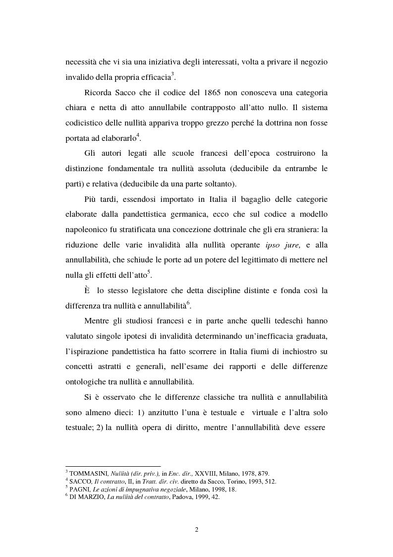 Anteprima della tesi: La nullità relativa, Pagina 2